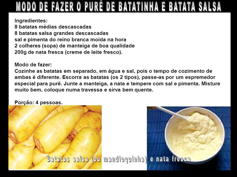PURÊ DE BATATAS SALSA E BATATINHAS