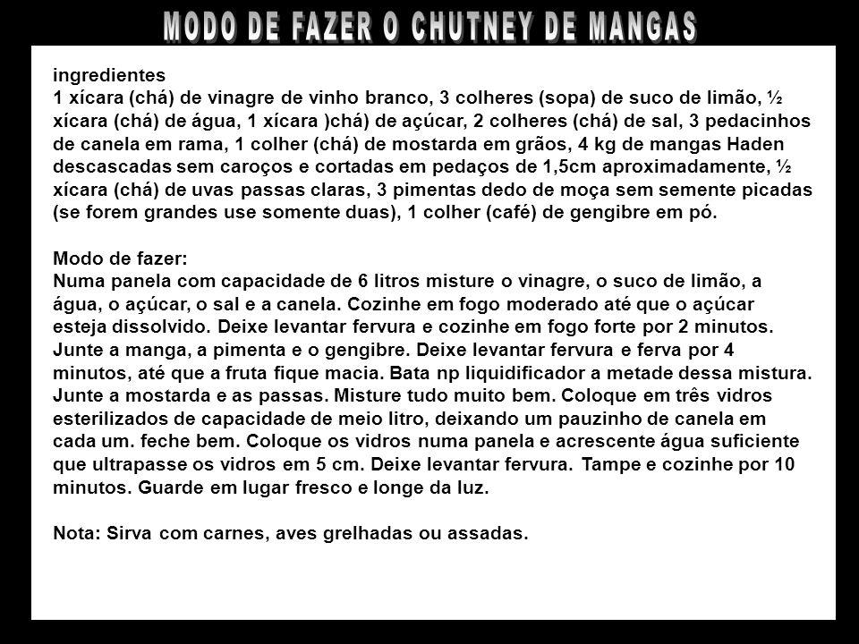 CHUTNEY DE MANGAS