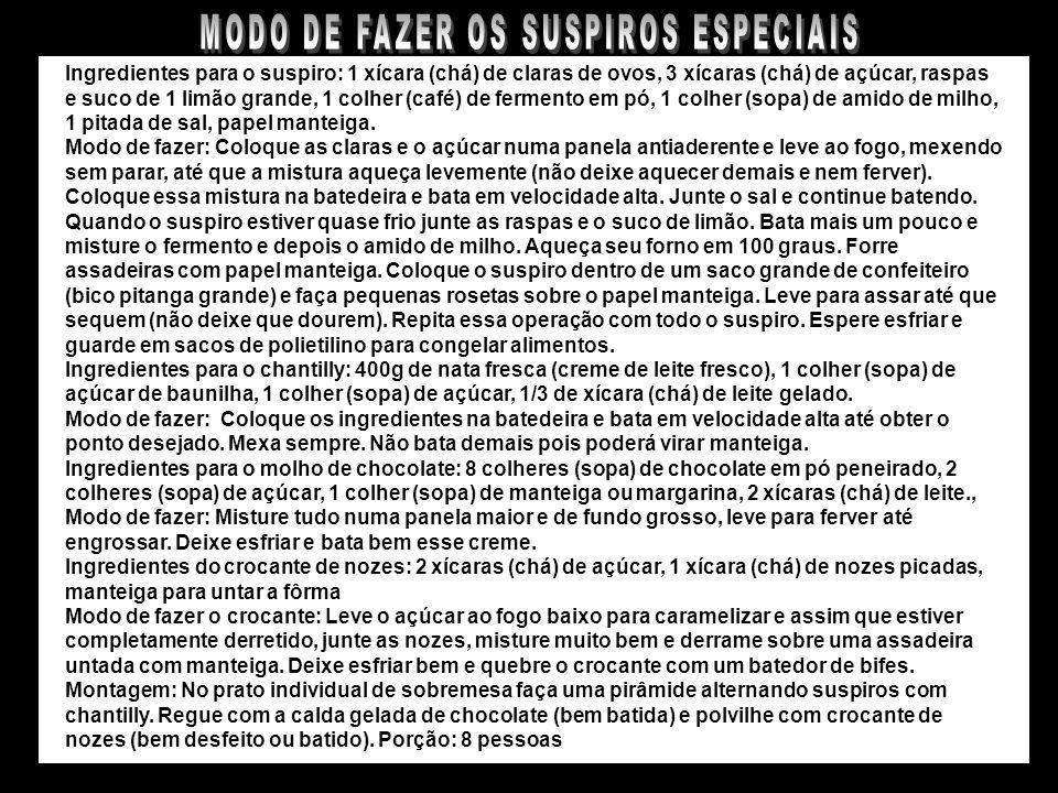 SUSPIROS ESPECIAIS À MINHA MODA