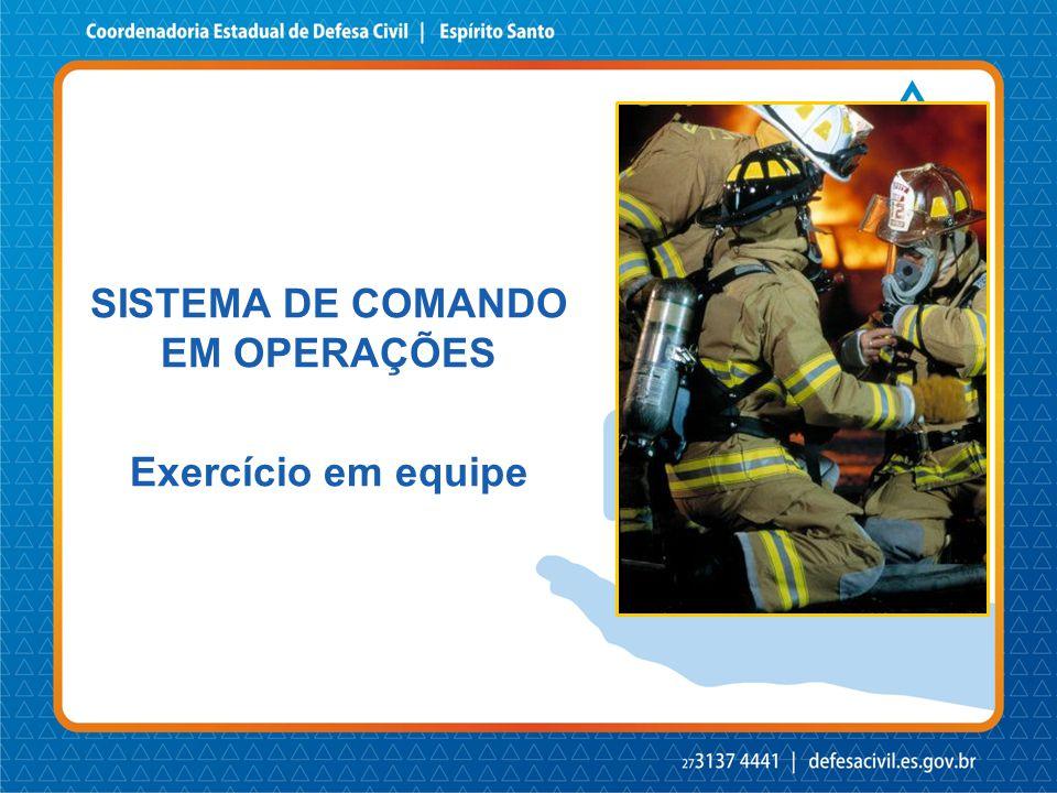 SISTEMA DE COMANDO EM OPERAÇÕES Exercício em equipe