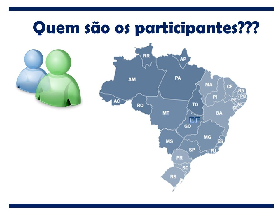 Quem são os participantes???