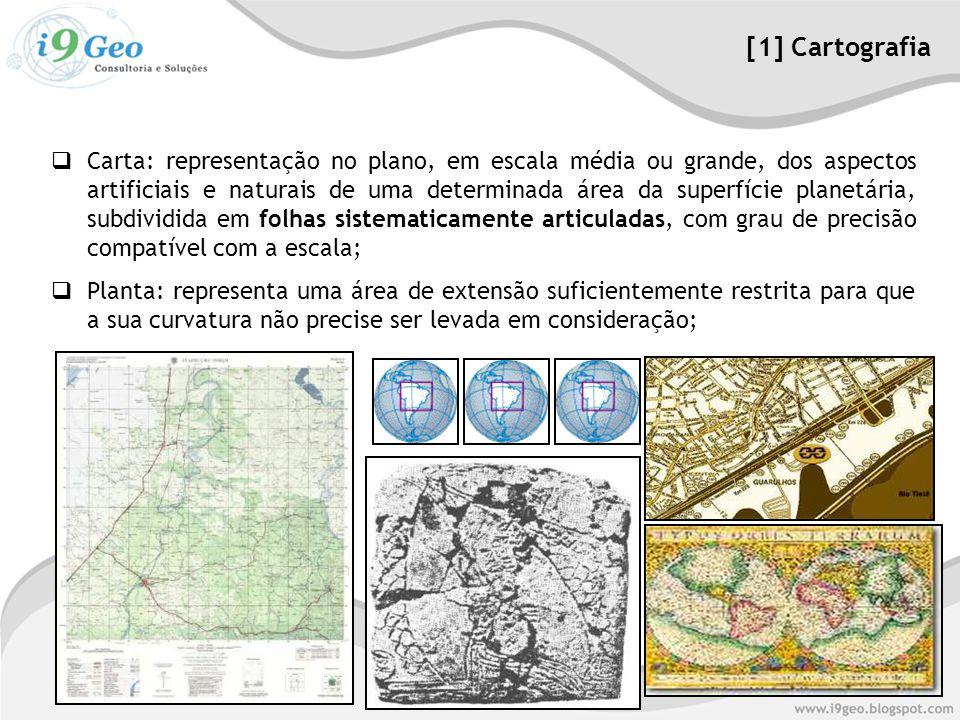  Carta: representação no plano, em escala média ou grande, dos aspectos artificiais e naturais de uma determinada área da superfície planetária, subd