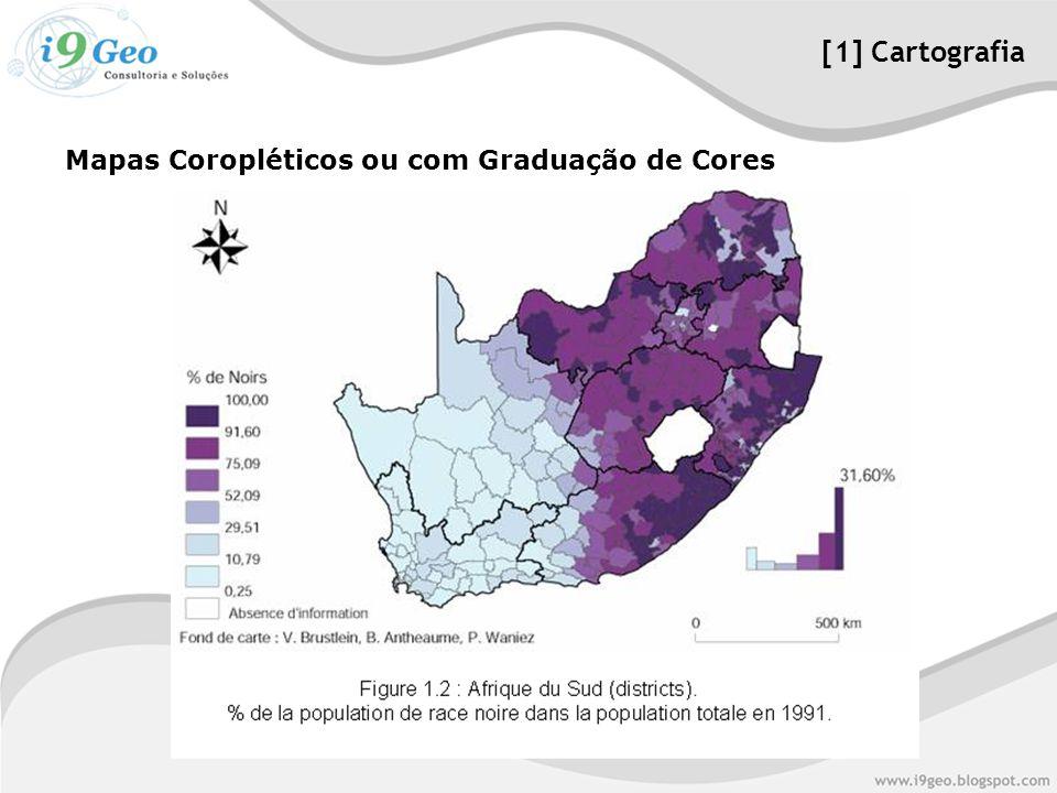 Mapas Coropléticos ou com Graduação de Cores