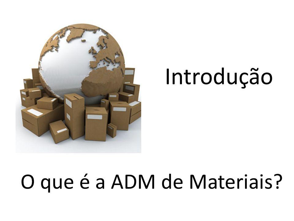 Introdução O que é a ADM de Materiais?