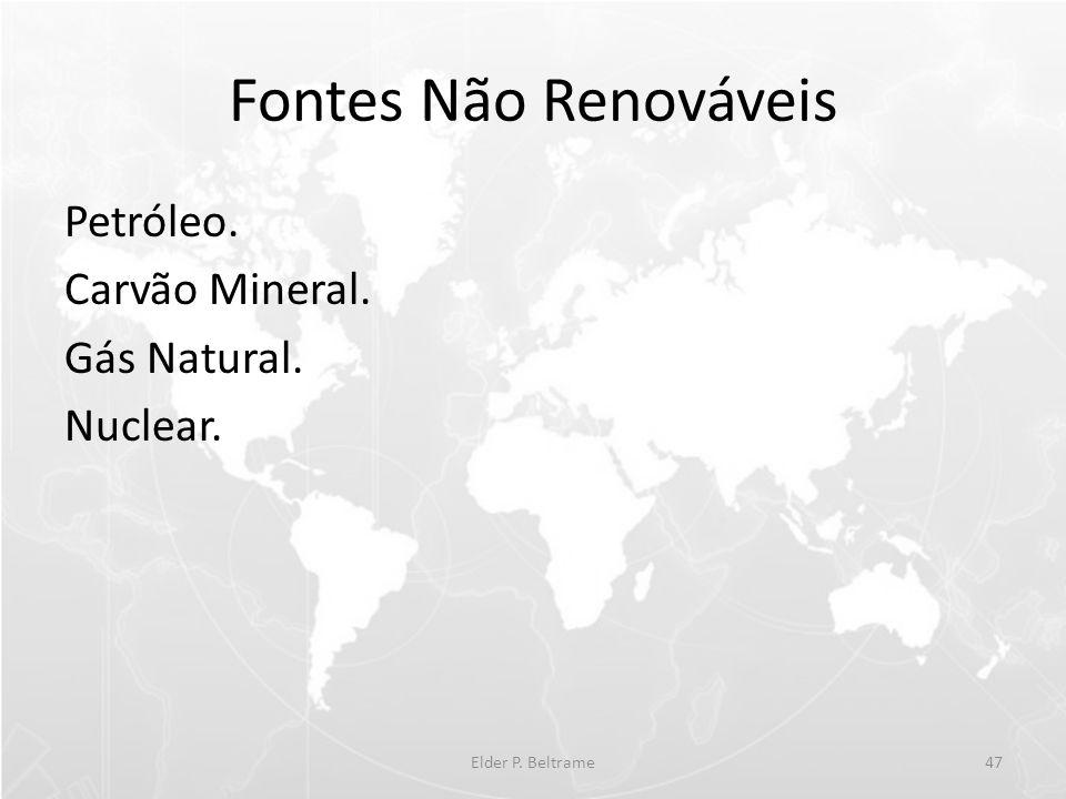 Fontes Não Renováveis Petróleo. Carvão Mineral. Gás Natural. Nuclear. Elder P. Beltrame47