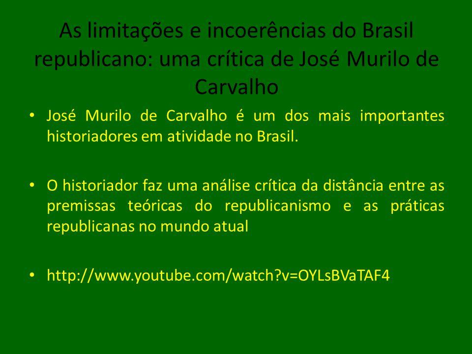 As limitações e incoerências do Brasil republicano: uma crítica de José Murilo de Carvalho • José Murilo de Carvalho é um dos mais importantes historiadores em atividade no Brasil.