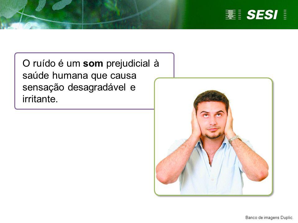 O ruído é um som prejudicial à saúde humana que causa sensação desagradável e irritante. Banco de imagens Duplic.