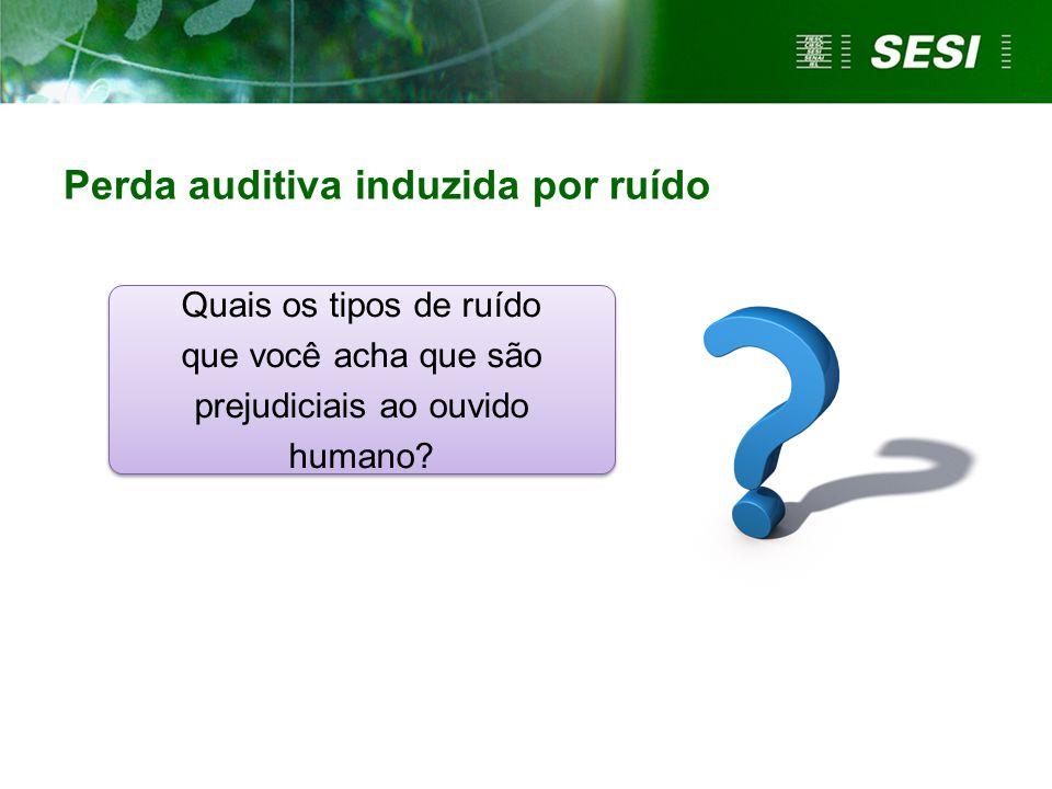 Quais os tipos de ruído que você acha que são prejudiciais ao ouvido humano? Perda auditiva induzida por ruído