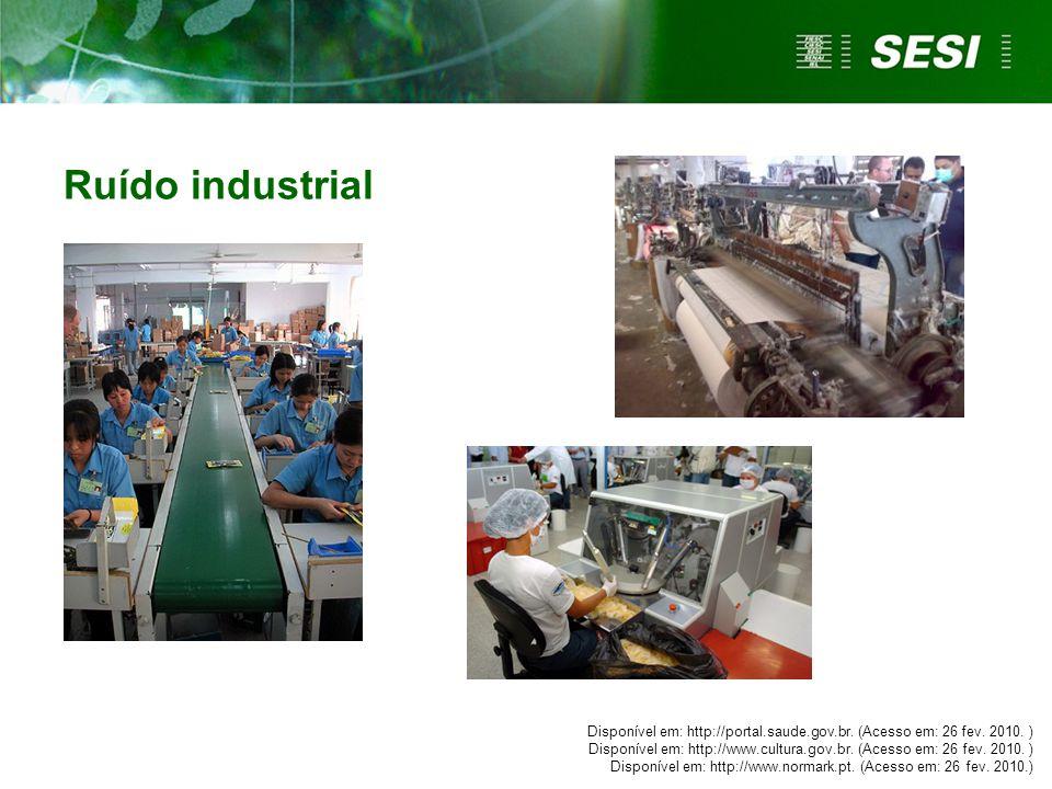 Ruído industrial Disponível em: http://portal.saude.gov.br. (Acesso em: 26 fev. 2010. ) Disponível em: http://www.cultura.gov.br. (Acesso em: 26 fev.