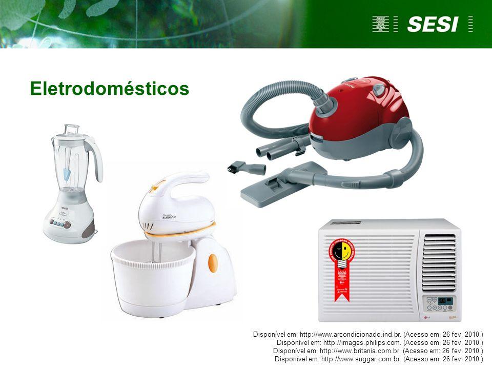 Eletrodomésticos Disponível em: http://www.arcondicionado.ind.br. (Acesso em: 26 fev. 2010.) Disponível em: http://images.philips.com. (Acesso em: 26