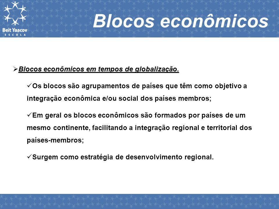 Blocos econômicos Blocos econômicos em tempos de globalização.  Blocos econômicos em tempos de globalização.  Os blocos são agrupamentos de países q