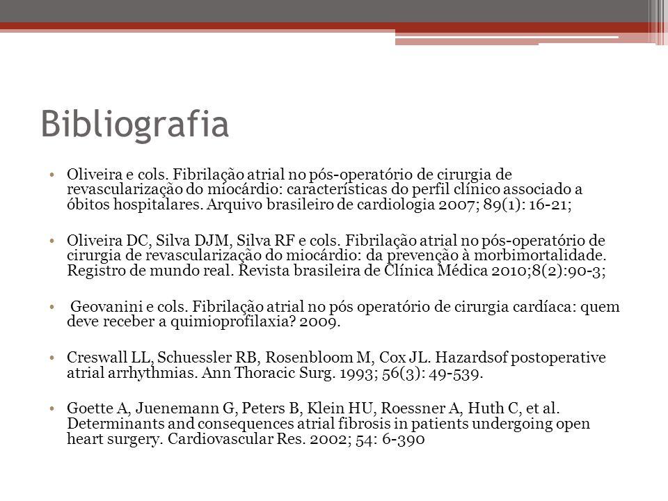 Bibliografia •Oliveira e cols.
