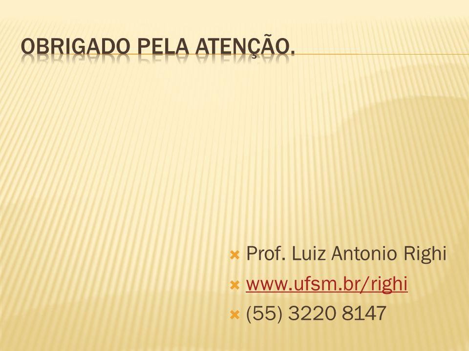 Prof. Luiz Antonio Righi  www.ufsm.br/righi www.ufsm.br/righi  (55) 3220 8147