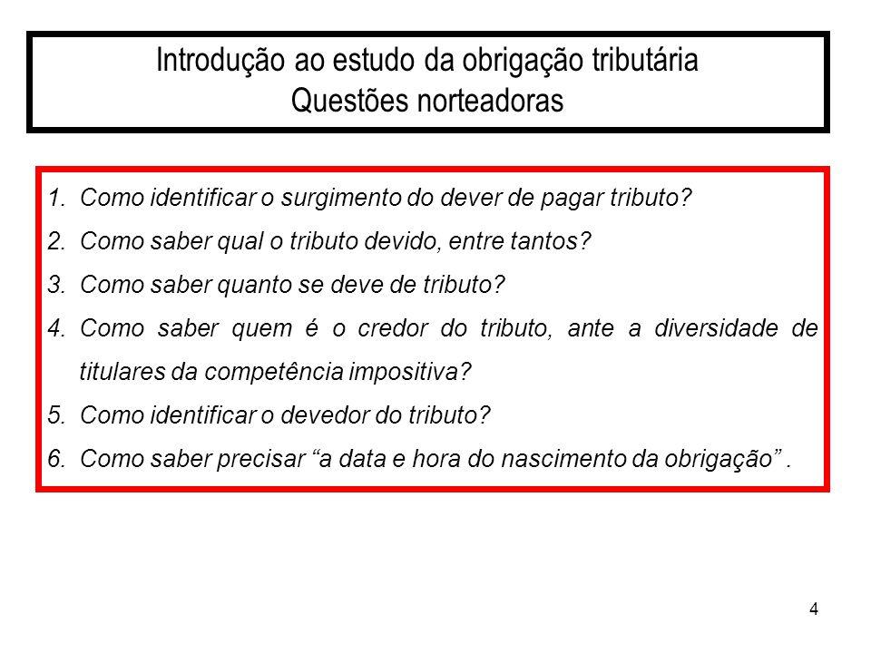 25 A obrigação tributária Sujeito Ativo É a pessoa jurídica de direito público, titular da competência para exigir o seu cumprimento (CTN,art.