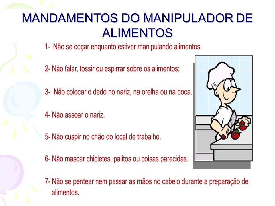 MANDAMENTOS DO MANIPULADOR DE ALIMENTOS