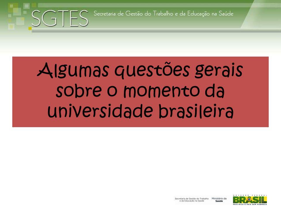 Algumas questões gerais sobre o momento da universidade brasileira 28