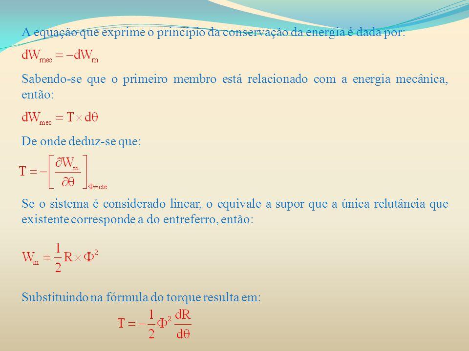 A equação que exprime o princípio da conservação da energia é dada por: Sabendo-se que o primeiro membro está relacionado com a energia mecânica, entã
