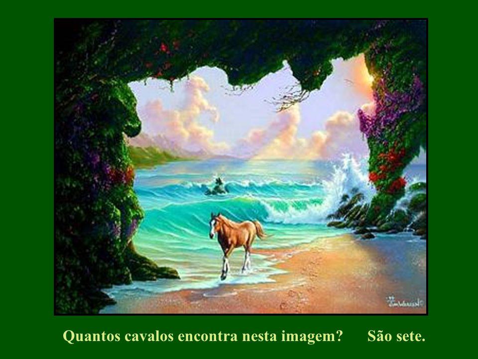 Quantos cavalos encontra nesta imagem?São sete.