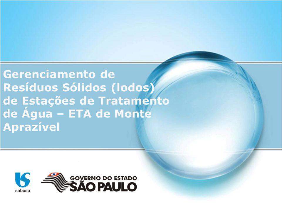 Gerenciamento de Resíduos Sólidos (lodos) de Estações de Tratamento de Água – ETA de Monte Aprazível
