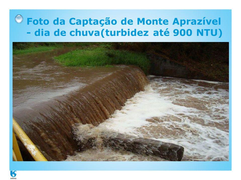 Foto da Captação de Monte Aprazível - dia de chuva(turbidez até 900 NTU)