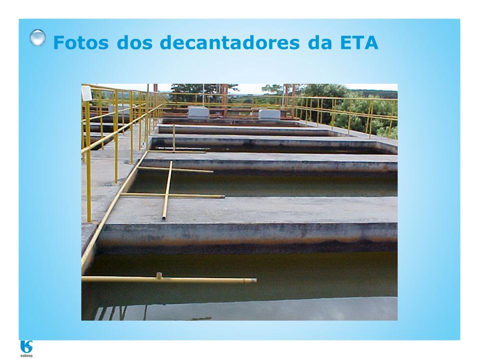 Fotos dos decantadores da ETA