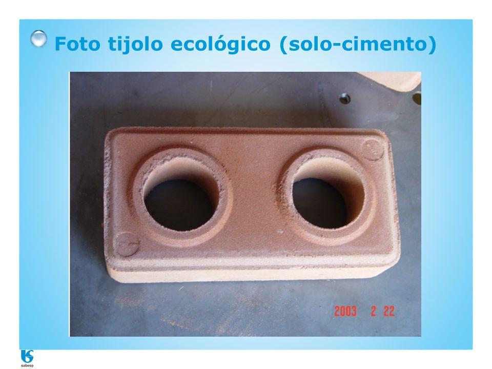 Foto tijolo ecológico (solo-cimento)