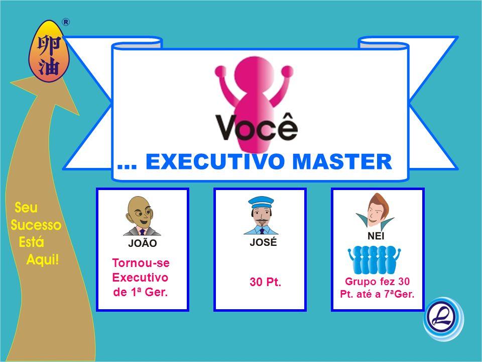 Tornou-se Executivo de 1ª Ger. 30 Pt. Grupo fez 30 Pt. até a 7ªGer.... EXECUTIVO MASTER