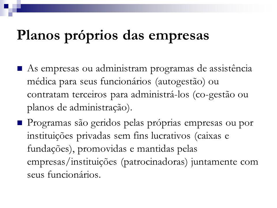 O tamanho do setor de assistência médico suplementar  Movimenta cerca de 2,6% do PIB  Faturamento de R$ 27 bilhões.