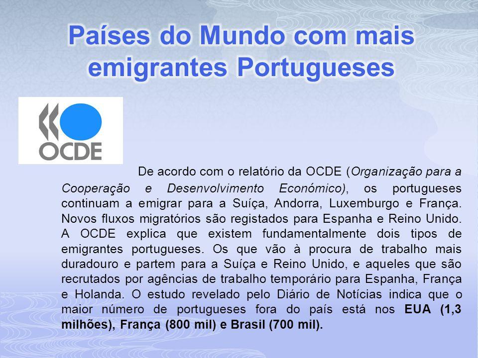 De acordo com o relatório da OCDE (Organização para a Cooperação e Desenvolvimento Económico), os portugueses continuam a emigrar para a Suíça, Andorr