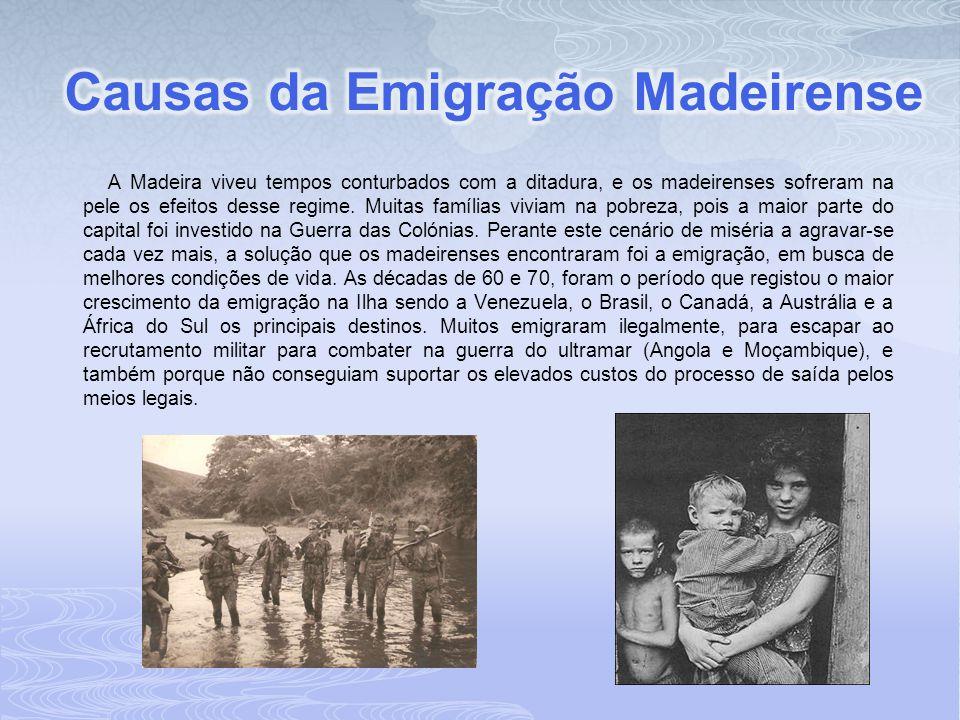 A Madeira viveu tempos conturbados com a ditadura, e os madeirenses sofreram na pele os efeitos desse regime. Muitas famílias viviam na pobreza, pois