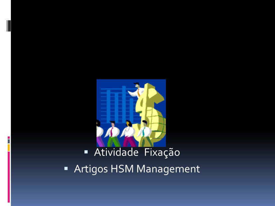  Atividade Fixação  Artigos HSM Management