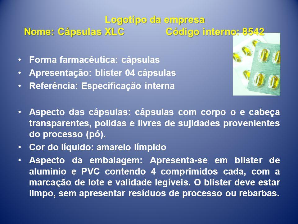 •Forma farmacêutica: cápsulas •Apresentação: blister 04 cápsulas •Referência: Especificação interna •Aspecto das cápsulas: cápsulas com corpo o e cabe