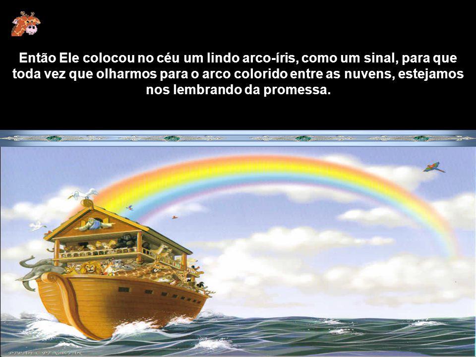 O dilúvio durou 40 dias, e todos os que viviam na terra, morreram, menos Noé, sua família e um casal de cada animal, que ficaram por todo esse tempo s