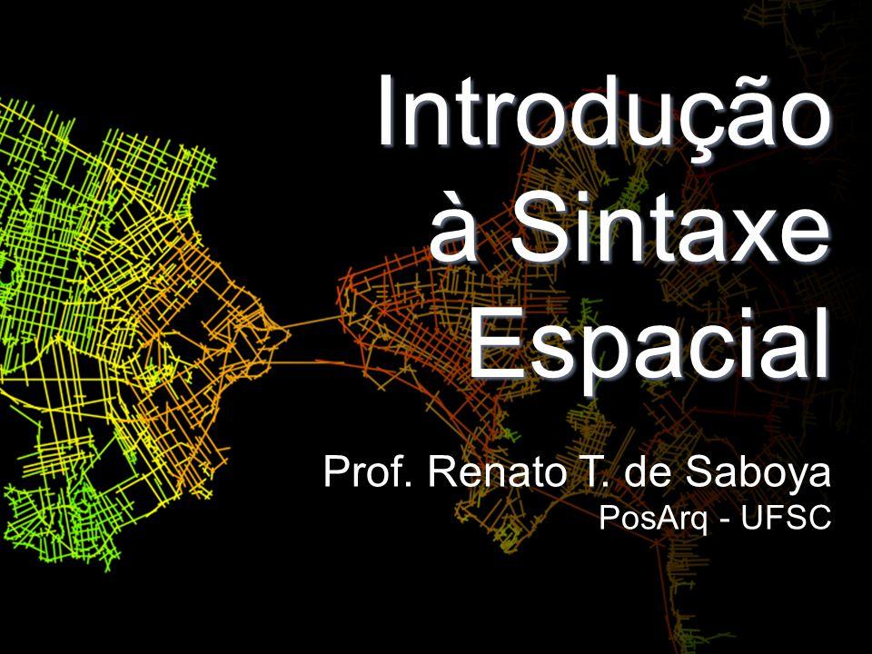 Introdução à Sintaxe Espacial Prof. Renato T. de Saboya PosArq - UFSC