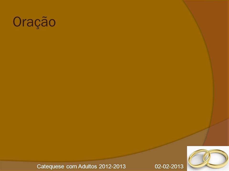 Catequese com Adultos 2012-2013 02-02-2013 Oração