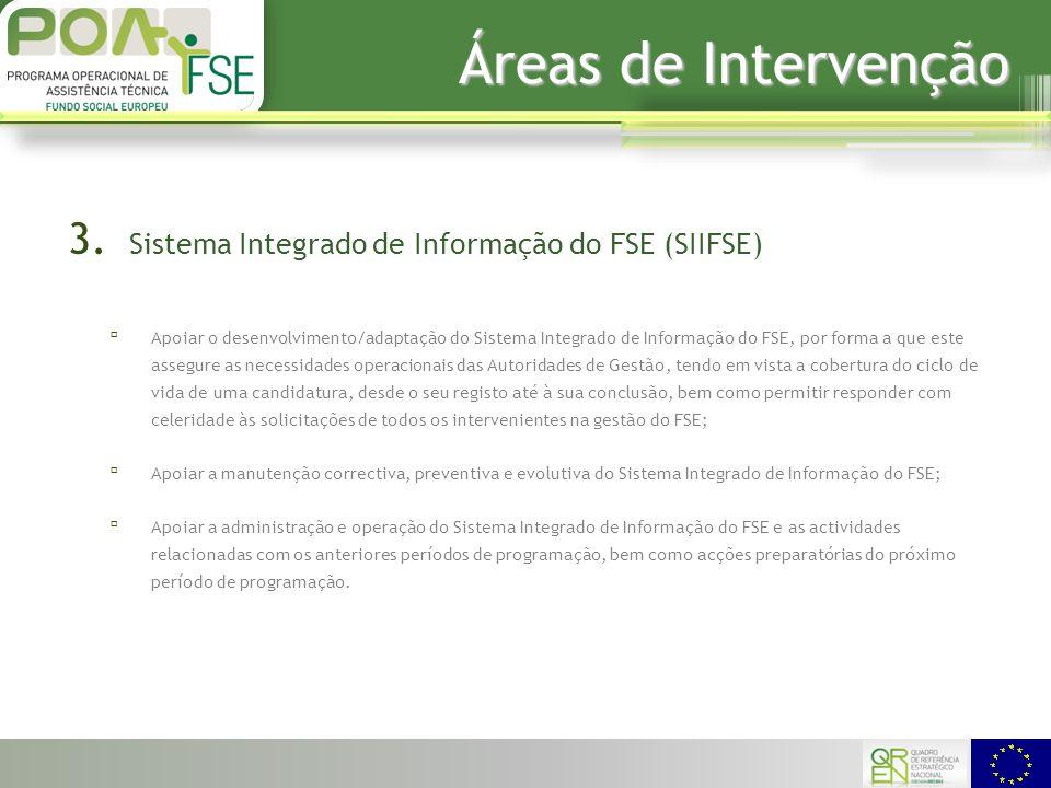 Áreas de Intervenção 3.