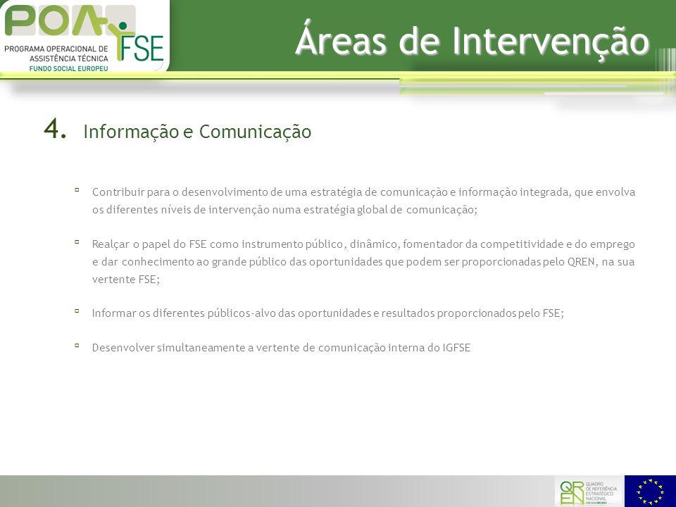 Áreas de Intervenção 4.