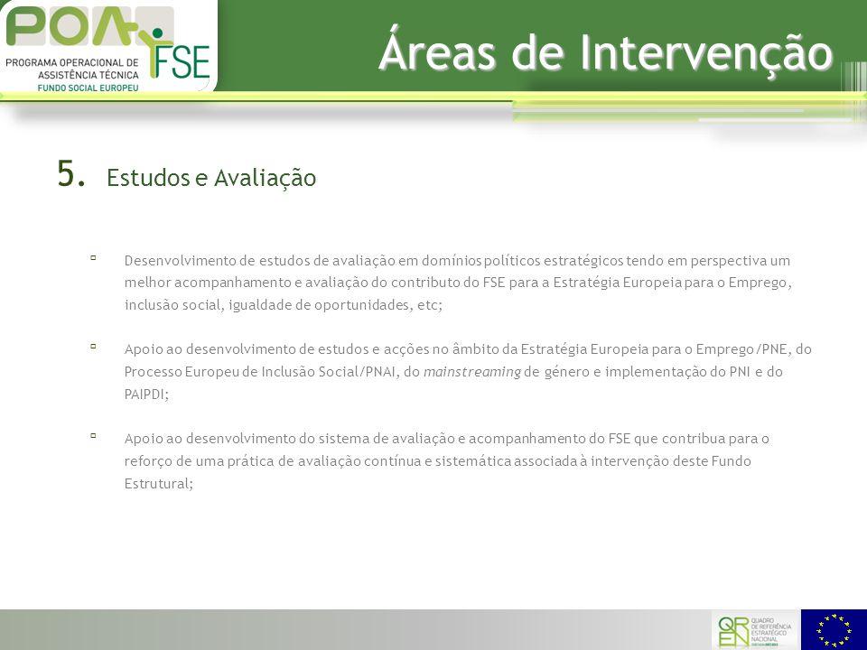 Áreas de Intervenção 5.