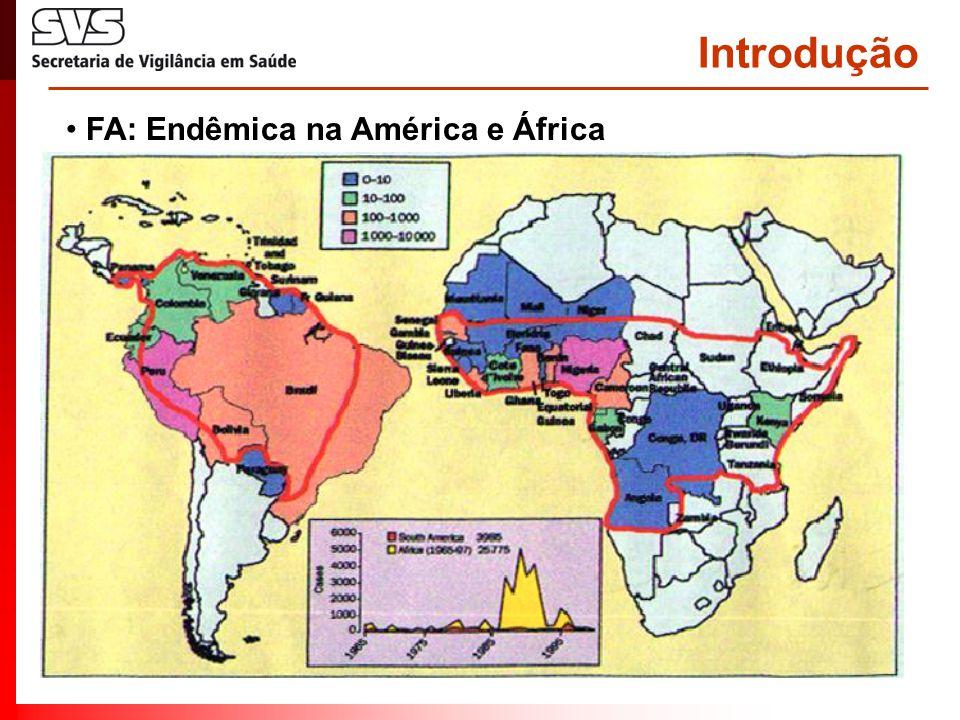 Introdução • FA: Endêmica na América e África