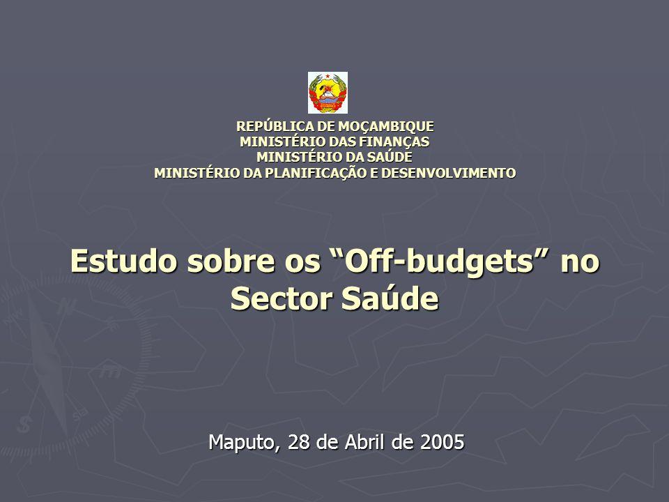 Maputo, 28 de Abril de 2005 REPÚBLICA DE MOÇAMBIQUE MINISTÉRIO DAS FINANÇAS MINISTÉRIO DA SAÚDE MINISTÉRIO DA PLANIFICAÇÃO E DESENVOLVIMENTO Estudo so