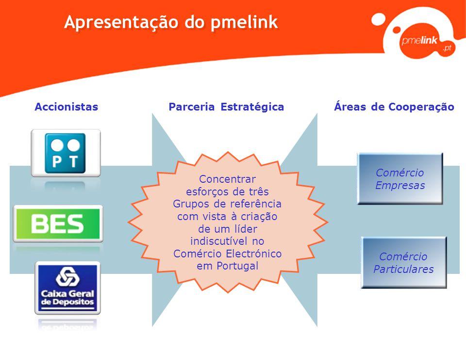 Comércio Particulares Comércio Empresas Apresentação do pmelink Áreas de Cooperação Concentrar esforços de três Grupos de referência com vista à criaç