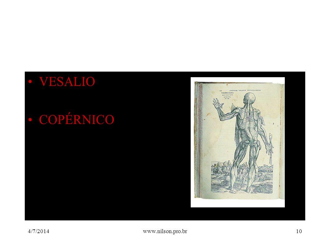 •VESALIO •COPÉRNICO 4/7/201410www.nilson.pro.br