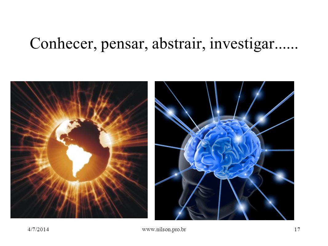 Conhecer, pensar, abstrair, investigar...... 4/7/201417www.nilson.pro.br