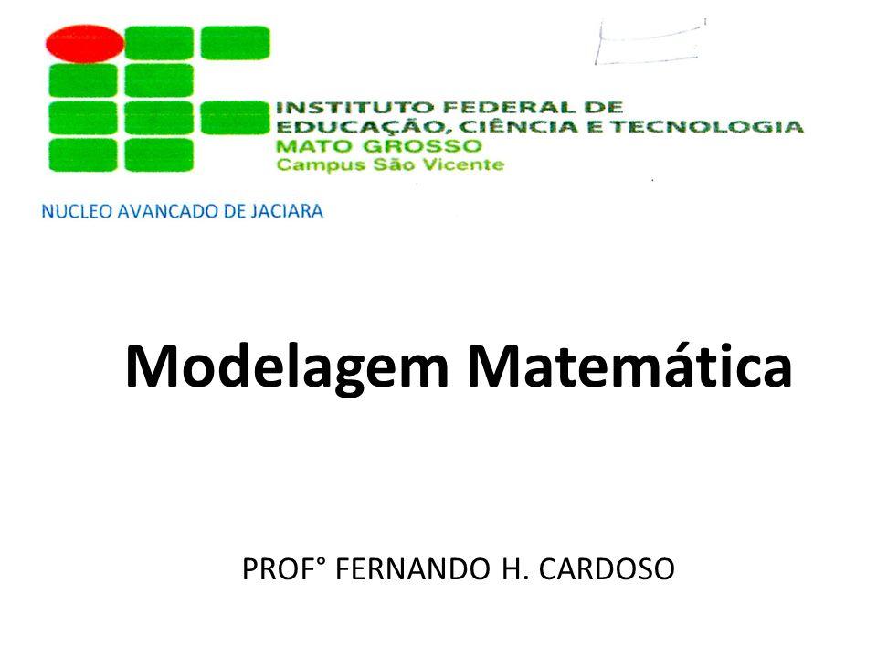 Modelagem Matemática PROF° FERNANDO H. CARDOSO