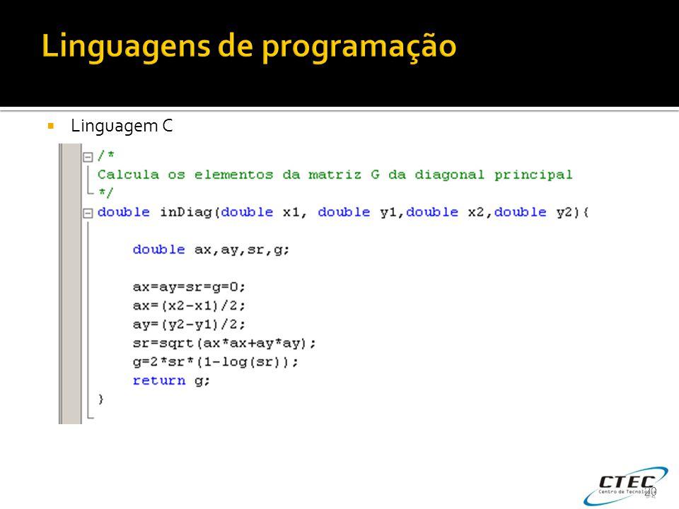  Linguagem C 20