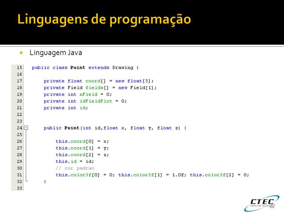  Linguagem Java 22