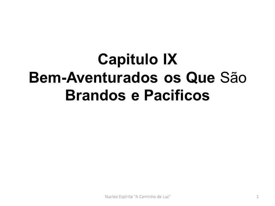 Capitulo IX Bem-Aventurados os Que São Brandos e Pacificos 1Nucleo Espirita