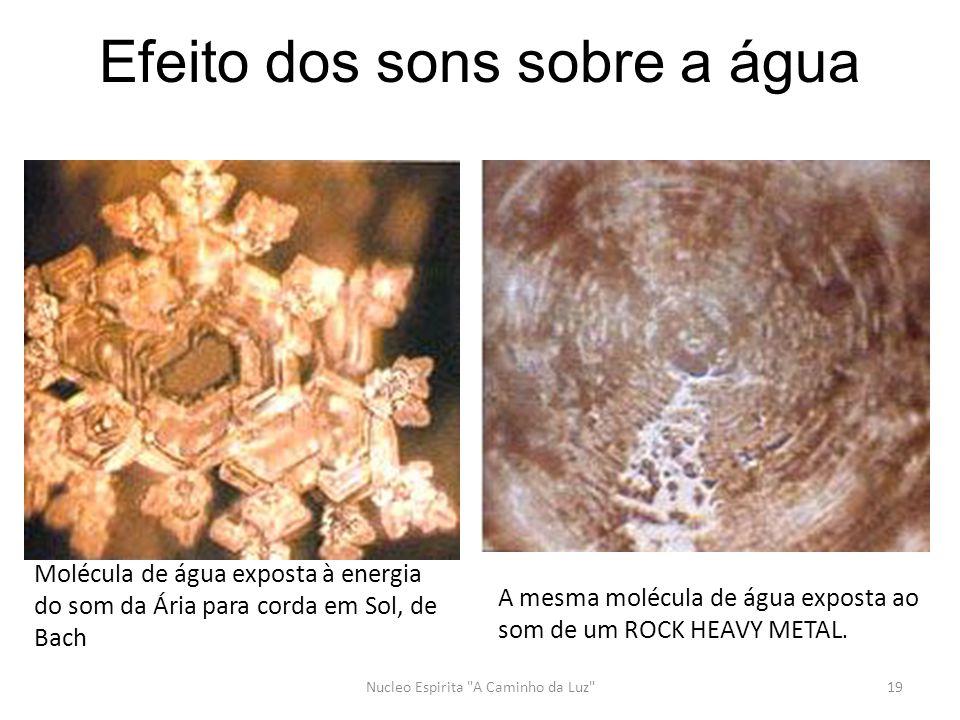 Efeito dos sons sobre a água Nucleo Espirita