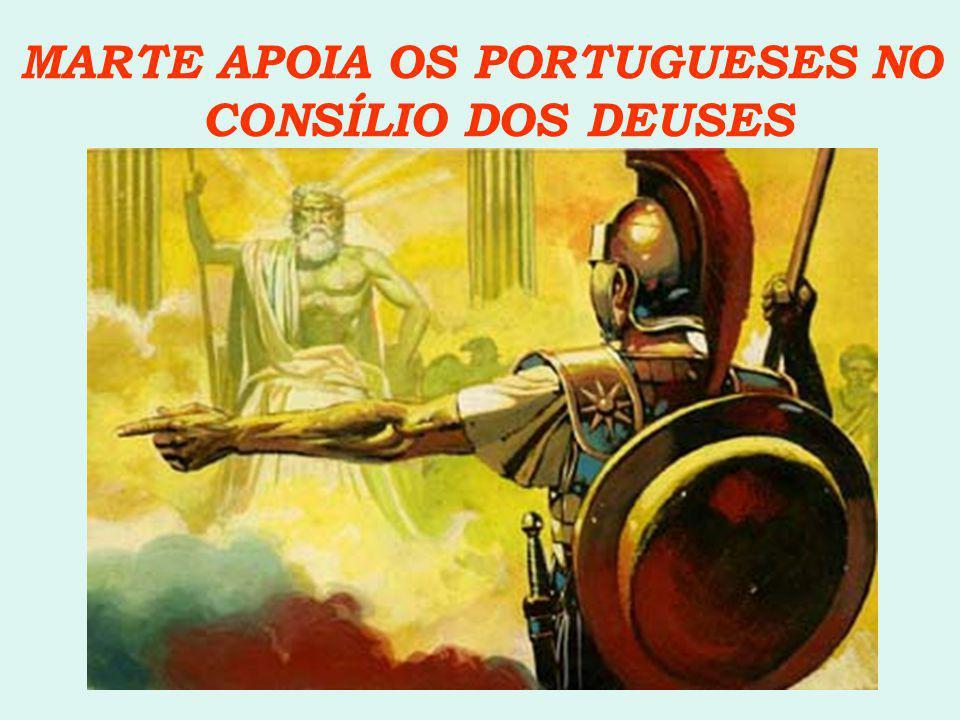 MARTE APOIA OS PORTUGUESES NO CONSÍLIO DOS DEUSES