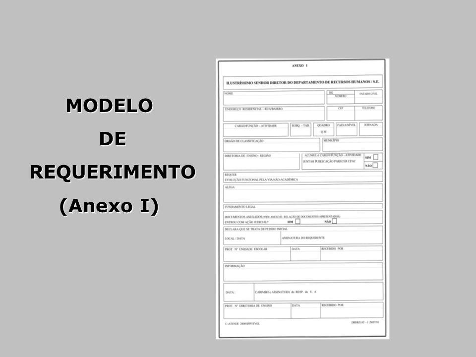 MODELO DE DE REQUERIMENTO REQUERIMENTO (Anexo I)